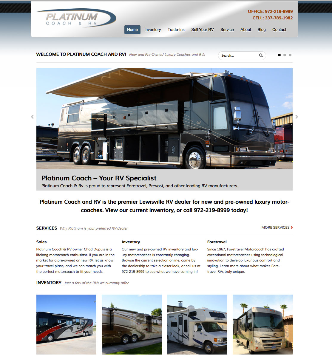 PlatinumRV_Website_Design